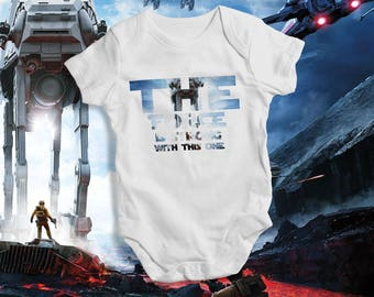 The Force Is Strong One Baby Bodysuit Star WarsJedi Quote Jedi Force Star Wars Jedi The Force Be With You