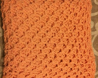 Peach Granny Square Blanket