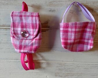 "18"" doll backpack and tote set"