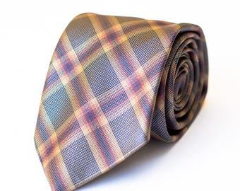 Brown Tartan Tie