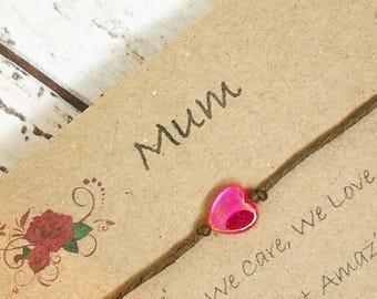 Mothers Day Wish Bracelet,Wish Bracelet, Friendship Bracelet, String Bracelet,Cord Bracelet, Mum Wish Bracelet,Gift for Mum, Gift for Mother