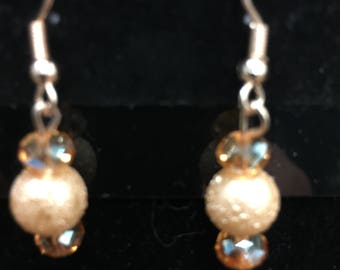Champagne Colored Earrings