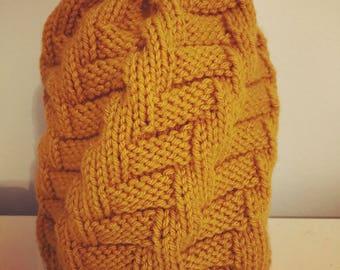 Handmade knitted Yellow Hat