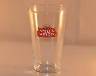6 glasses, Stella Artois Beer Belgian Glasses, Vintage