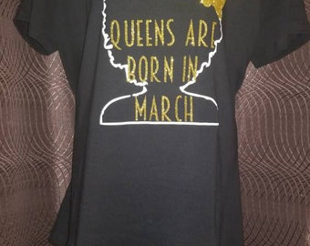 Queens are born birthday t-shirts