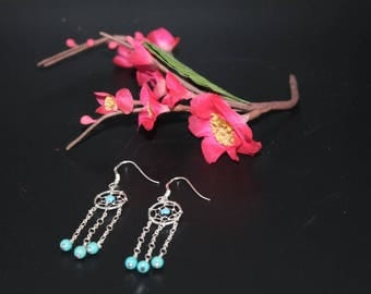 Dreamcatcher earrings and Turquoise