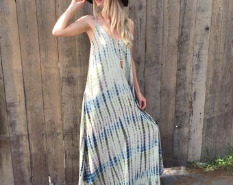 Tie dye dress, maxi dress, long dress, boho dress, festival dress, womens dress, summer dress, bohemian dress, beach dress, festival wear