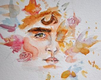 Original Watercolor Elio Perlman