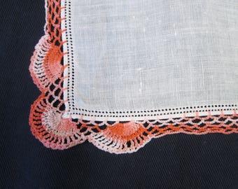Vintage Hand Embroidered Handkerchief
