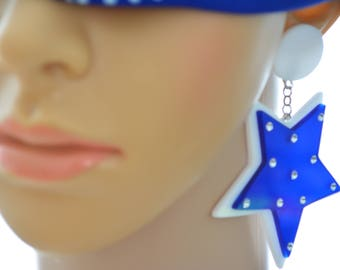 GLOSSI earring BIG Star - 'SUPER Star' Collection Statement Jewelry Free Shipping
