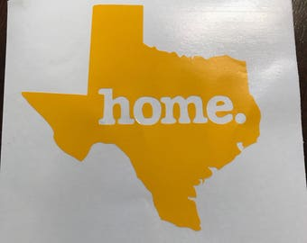 texas home sticker