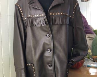 Vintage Buckskin Fringed Jacket