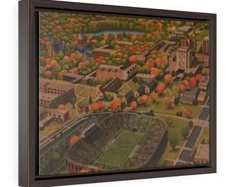 Notre Dame Stadium Art Print, Notre Dame Football Stadium, Fighting Irish, University Of Notre Dame Painting, Notre Dame Gift, Home Decor