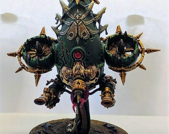Painted Warhammer 40,000 Death Guard Foetid Bloat-Drone