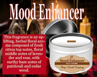 Mood Enhancer Scented Soy Candle Tin (8 oz.)