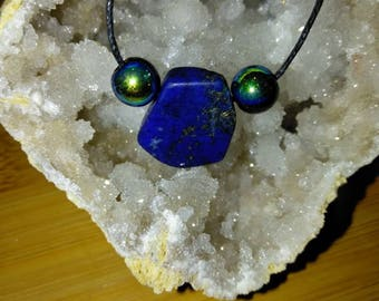 Lapis Lazuli with Glass Beads