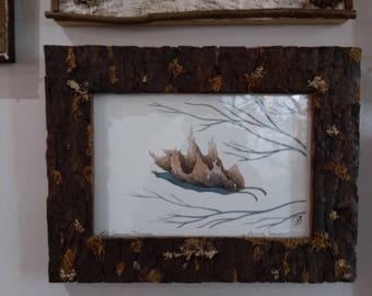 rustic bark frame