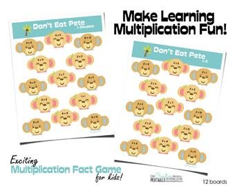 Multiplication Fact Game Don't Eat Pete