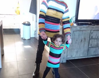 Pattern Lookalike Tommy Hilfiger sweater for grandma and granddaughter
