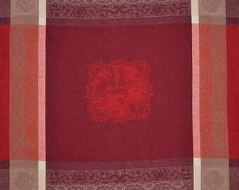Barocos Red Napkin, French Jacquard