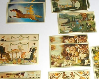 Vintage reproduction postcards, Merrimack Publishing Corp, No. 1866S, 22 Postcards, stationery, vintage, animal postcards, art postcards