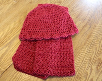 Crocheted Scarf and Hat Set