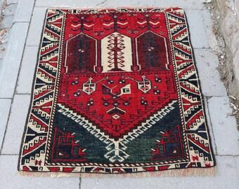 vegetable dyed rug, 2.5 x 3.1 ft. small turkish rug, Free Shipping bohemian area rug, anatolian rug, turkey carpet, organic wool rug MB478