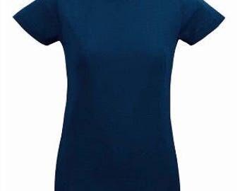 Fine Jersey Short Sleeve Tee Navy