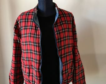 Reversible Vintage Plaid and Denim Jacket