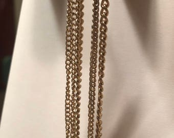 3 chain drop earrings