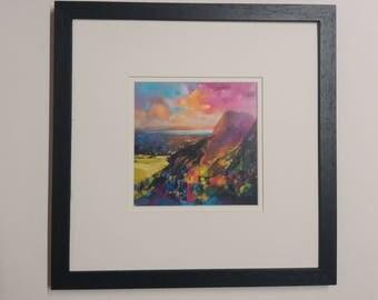 Scott Naismith  framed art 'Arthur's seat' Edinburgh.. Scottish  paintings
