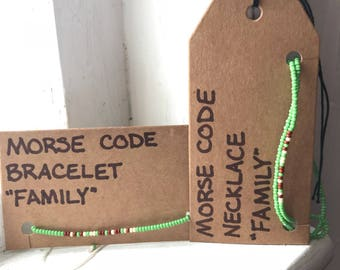 Family Morse Code Jewelry