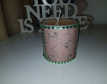 Decorative handmade candle