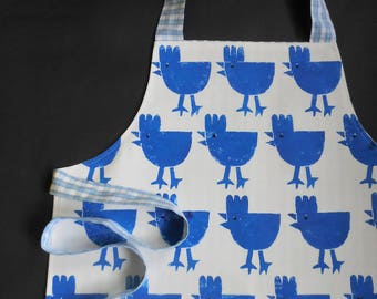 Chicken Print Kids Apron