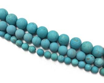Matte Blue Turquoise- 8mm, 10mm, 12mm