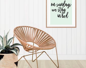 On Sundays We Stay In Bed - A4 / A3 Print