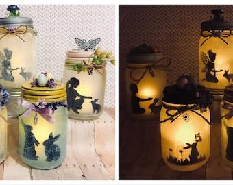 Easter mason lanterns