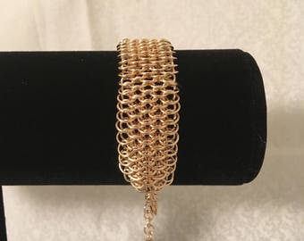 Rose Gold Dragonscale Bracelet