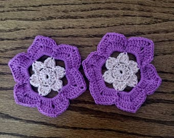 Purple and Pink Flower Coaster