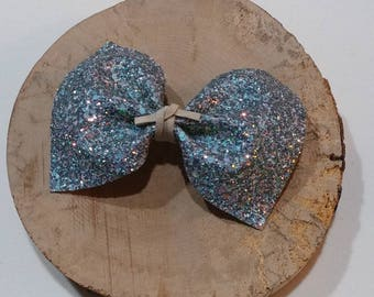 Baby hair bow, alligator clip, girl hair bow, glitter hair bow, handmade hair clip, hair accessories