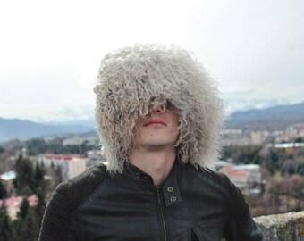 Khabib Nurmagomedov Habib fur hat papaha papakha winter hat goatskin
