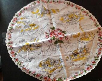 Around Washington Round souvenier handkerchief!