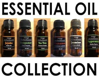 Essential Oils Set of 6 Jojoba,Bergamot,Teatree,Cinnamon,Jasmine,Peppermint Great Gift