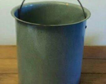 Vintage Granite pail bucket rustic farmhouse