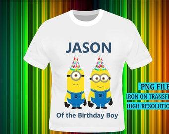 Minions, Minions Iron On Transfer, Minions Birthday Shirt DIY. Boy Birthday Shirt DIY, Minions Party. Digital Files, High Resolution.