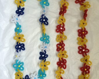 Pipe Cleaner Flower Lei