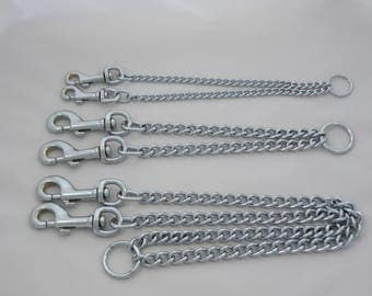 Double Dog Coupler Twin Dog Lead Chain 3 Three Sizes Walk 2 Dogs Together