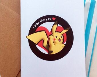 I Pika-chu you! Pokemon greeting card