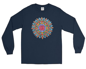 Rose Burst Long Sleeve T-Shirt