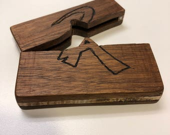Mahogany and Curly Maple Wallet